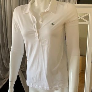 Lacoste super thin 100% cotton polo shirt.